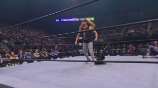 Joey Janela chases Shawn Spears out of the ring